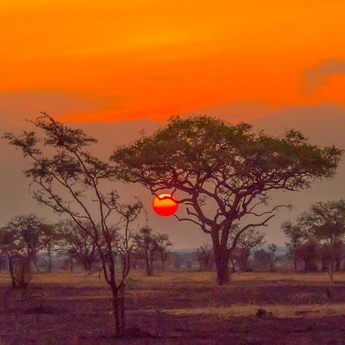 sunset uganda